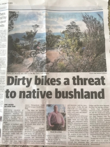 Dirty bikes a threat to native bushland
